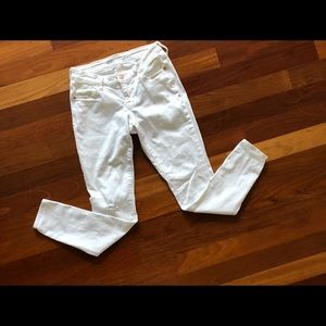 Old Navy Jeans - Old Navy Rockstar Low Rise Distressed White Jeans